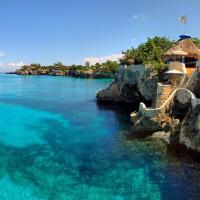 Un hôtel dans des grottes des Caraïbes
