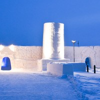 Un château de glace en Finlande