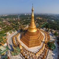 Contemplez la pagode en or,  le trésor de Birmanie