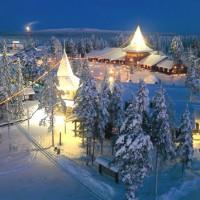 Ambiance grand froid en Laponie Finlandaise