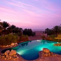 Un hôtel grand luxe dans le désert à Dubaï.