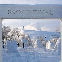 La neige est une fête à Kiruna
