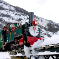« Le train de la fin du monde » à Ushuaia en Argentine.